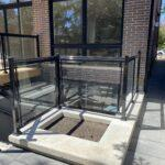 glass railing for a new house in toronto