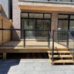 glass deck railing in toronto