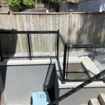 glass railing for a basement walkout in toronto
