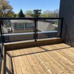 glass railing on a new deck