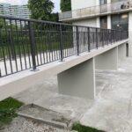 aluminum railing on a bridge in Mississauga