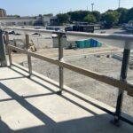 new aluminum railing on construction site in Brampton