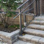 aluminum stair railing in downtown toronto