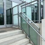 glass stair railings and privacy divider in toronto
