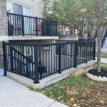 aluminum railing on a walkout in toronto