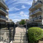 aluminum railing and glass for a townhouse complex in Mississauga