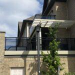 glass railing on a deck in Mississauga