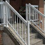 aluminum railing in white on porch in toronto