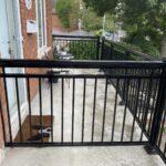 black aluminum railing on porch in toronto