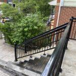 aluminum railing on a stairs in toronto