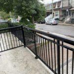 black aluminum railing on balcony in Toronto