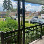 aluminum column and railing on a front porch in toronto