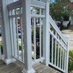 aluminum railings and columns on a front porch in toronto