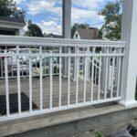 aluminum railing and columns on a front porch in toronto