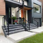 aluminum railings on a front porch in toronto