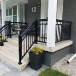 black aluminum railing on a porch in toronto