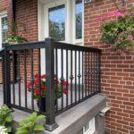 aluminum railing on a front porch in Toronto