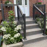 aluminum railing on a front porch