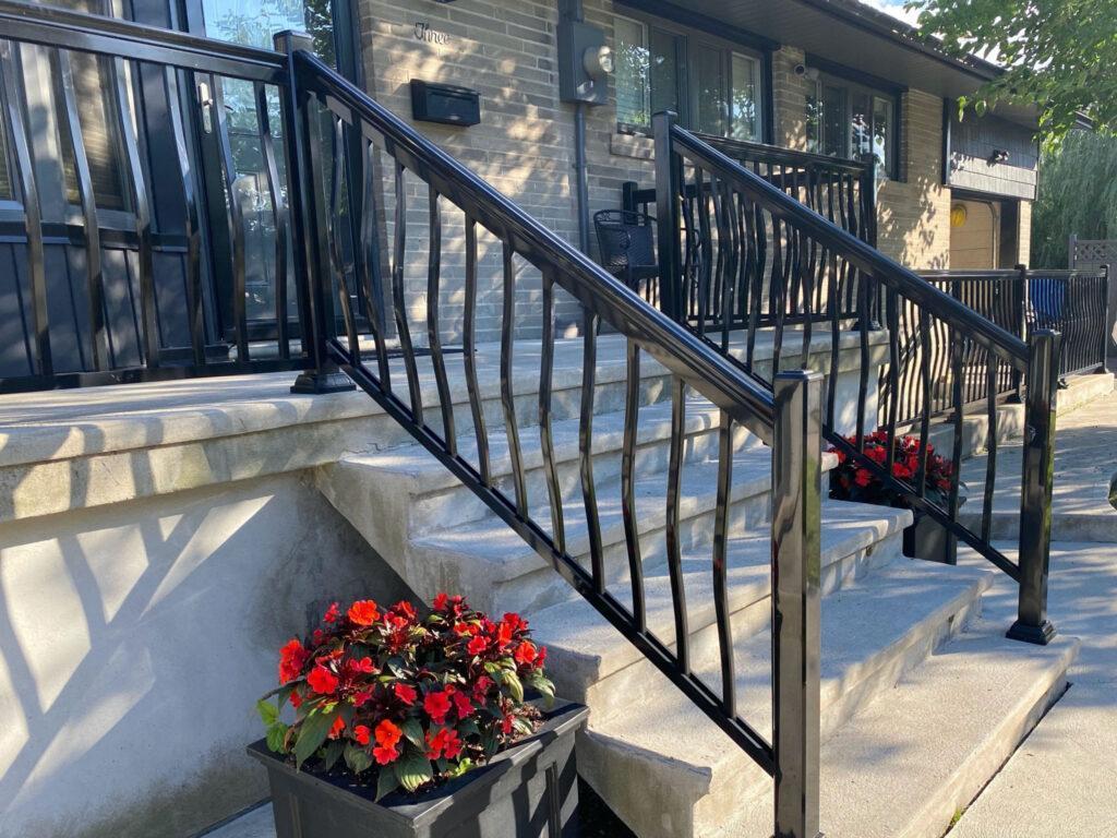 aluminum front porch railing brampton