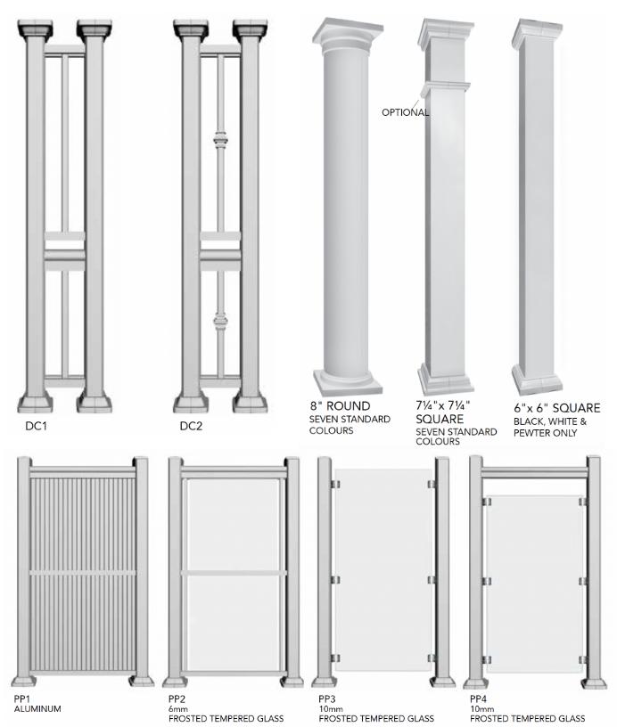 aluminum railing column